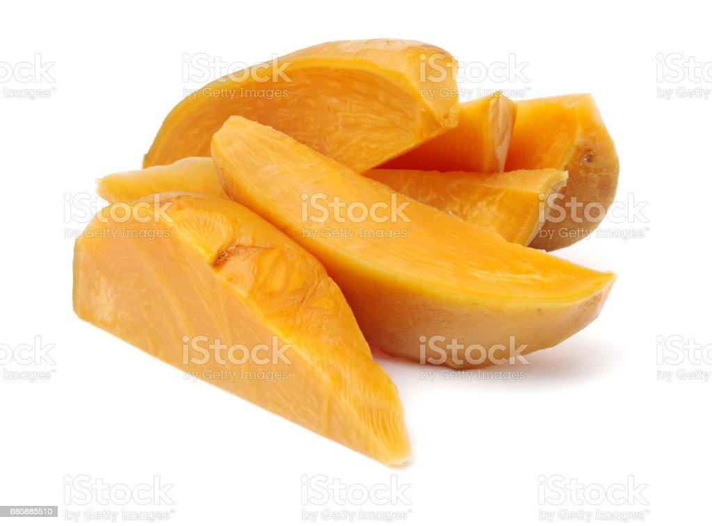 swede vegetable on white background stock photo