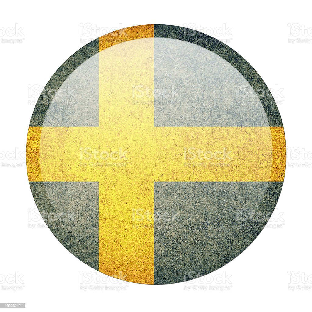 sweden button flag royalty-free stock photo