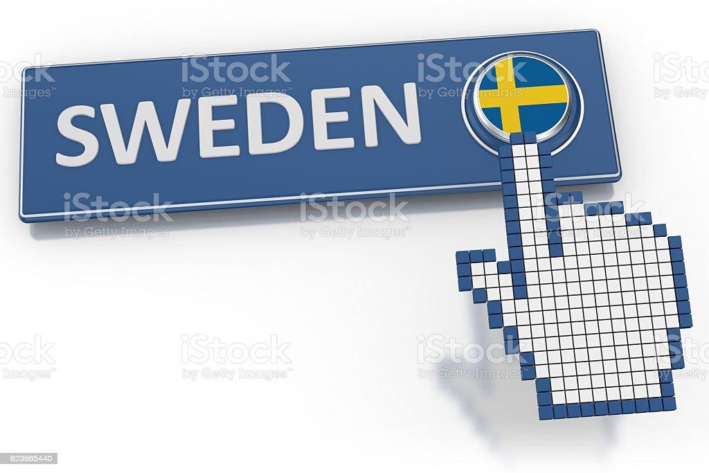 Sweden - Button stock photo