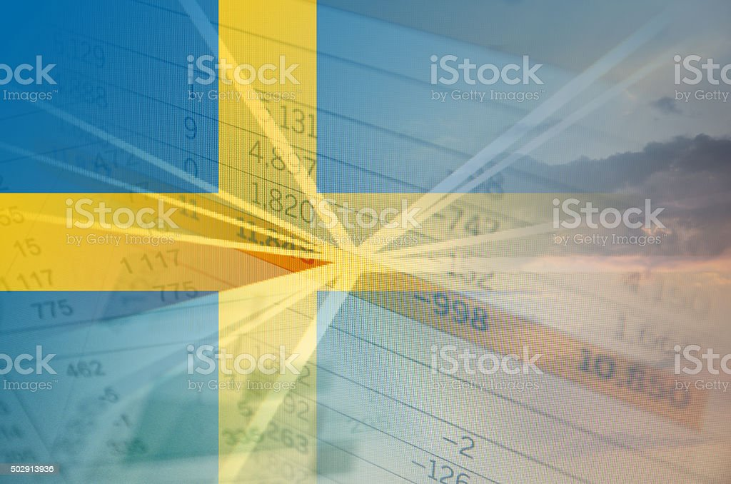 Sweden economy concept stock photo