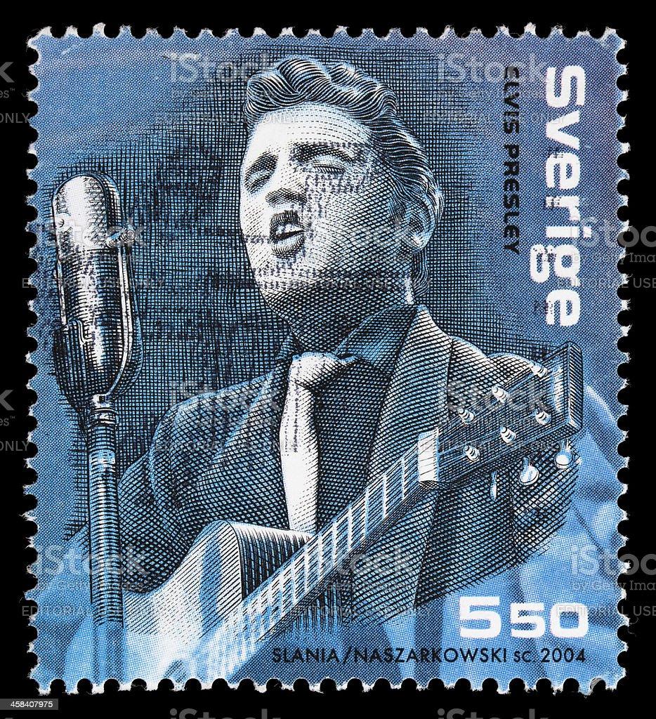 Sweden Elvis Presley postage stamp stock photo