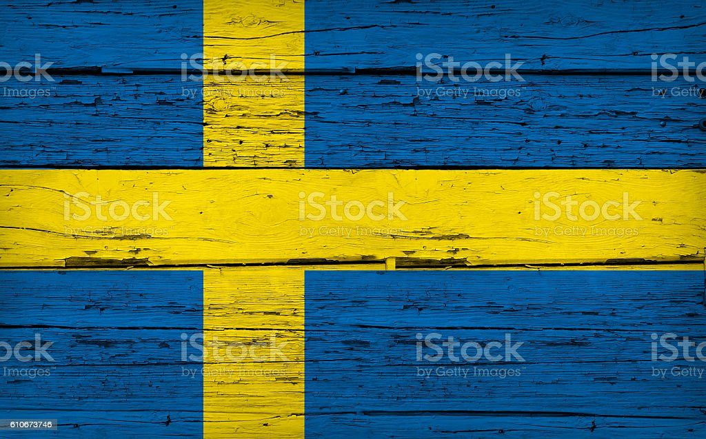 Sweden Flag Grunge Background stock photo