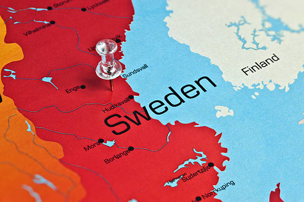 Sweden Map On Old Paper Vintage Texture Pictures Images And Stock - Sweden map sundsvall