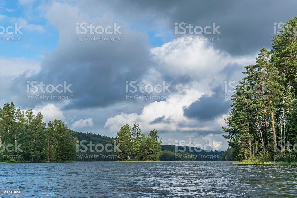 Sweden nature scene stock photo