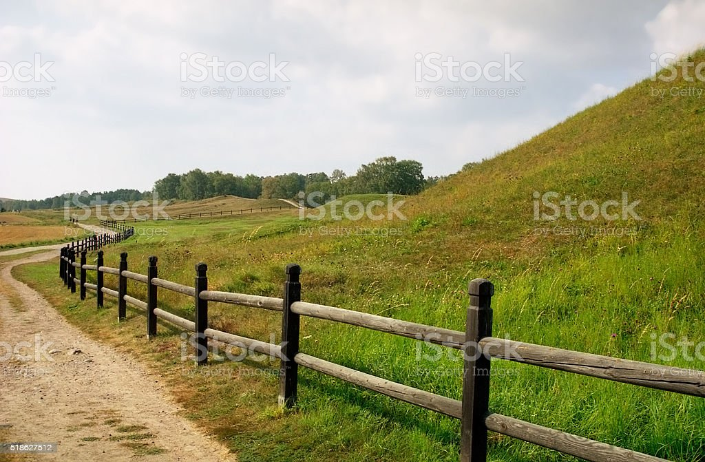 Sweden. Old Uppsala. The Royal mounds stock photo