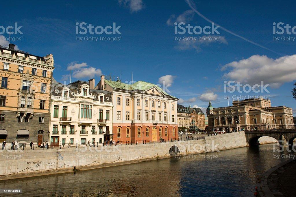 Sweden Stockholm Sun royalty-free stock photo