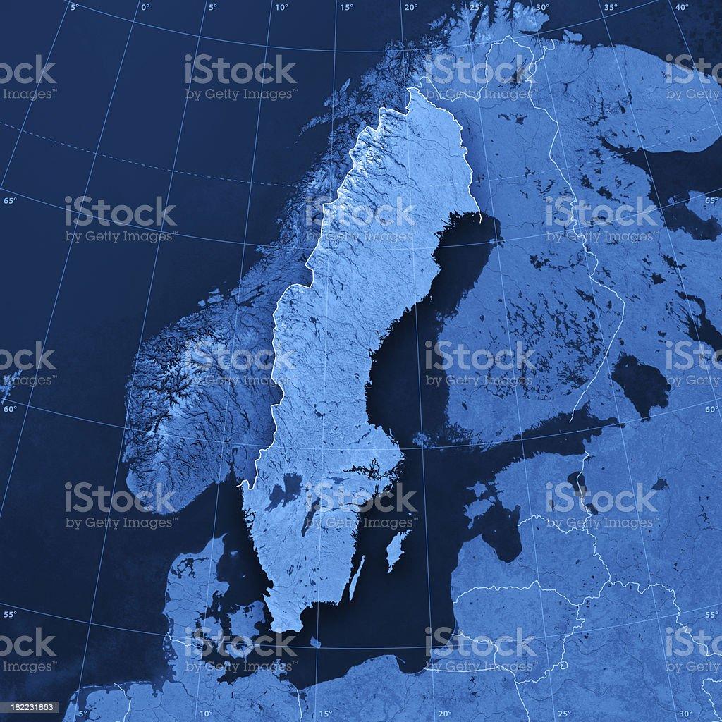 Sweden Topographic Map stock photo
