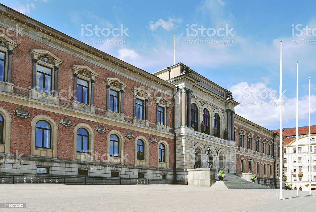 Sweden. Uppsala University stock photo
