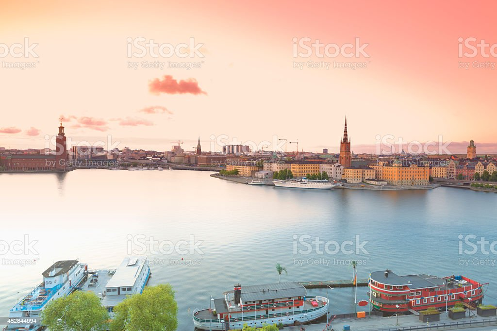Sweden, view from Soedermalm on Stockholm stock photo