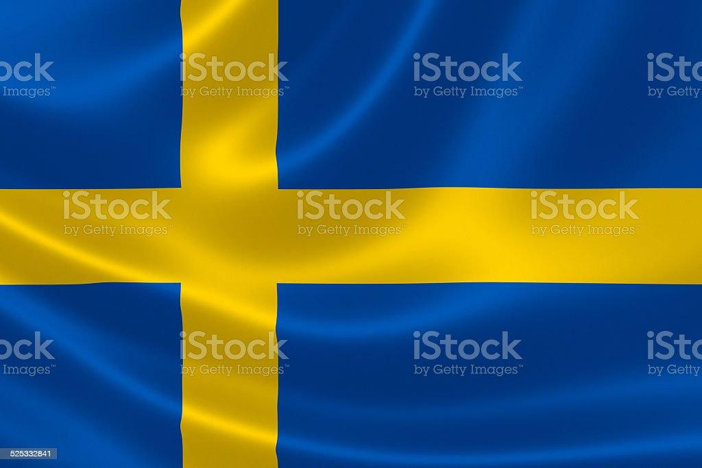 Sweden's Flag stock photo