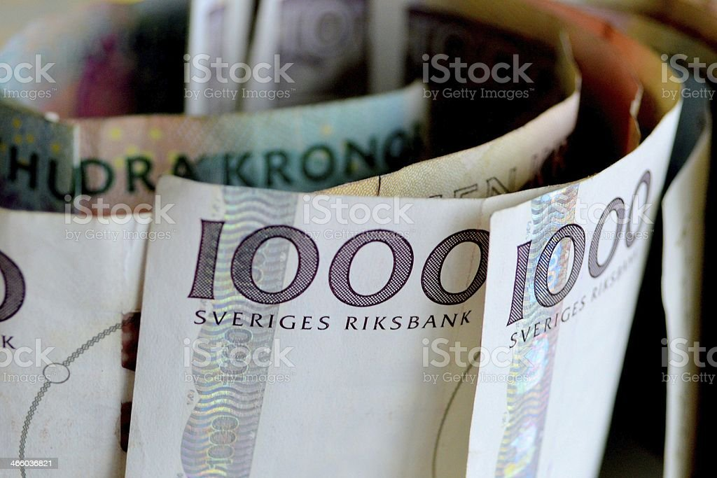 Swedish banknotes stock photo