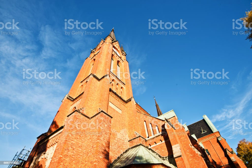 Svenska Kyrkan (Swedish Church) Cathedrar stock photo