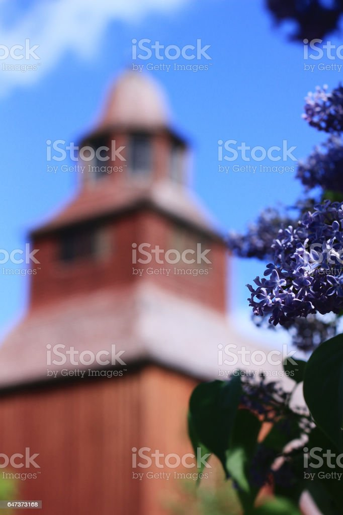 Swedish church stock photo