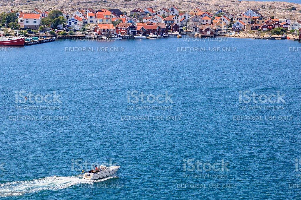 Swedish coast village stock photo
