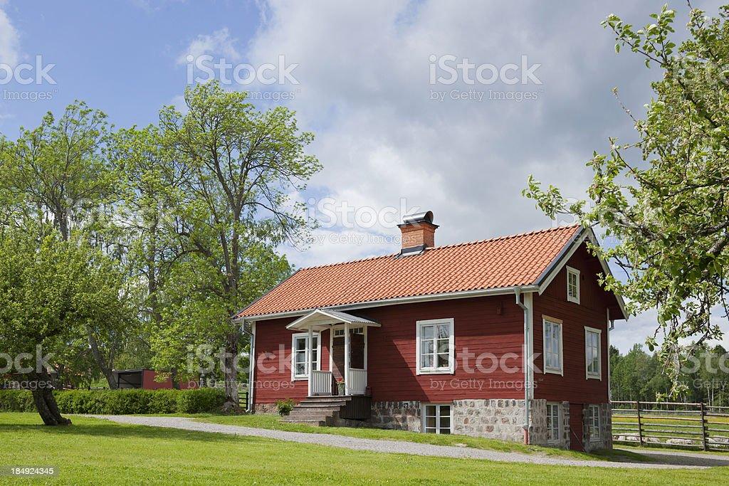 Swedish country house stock photo