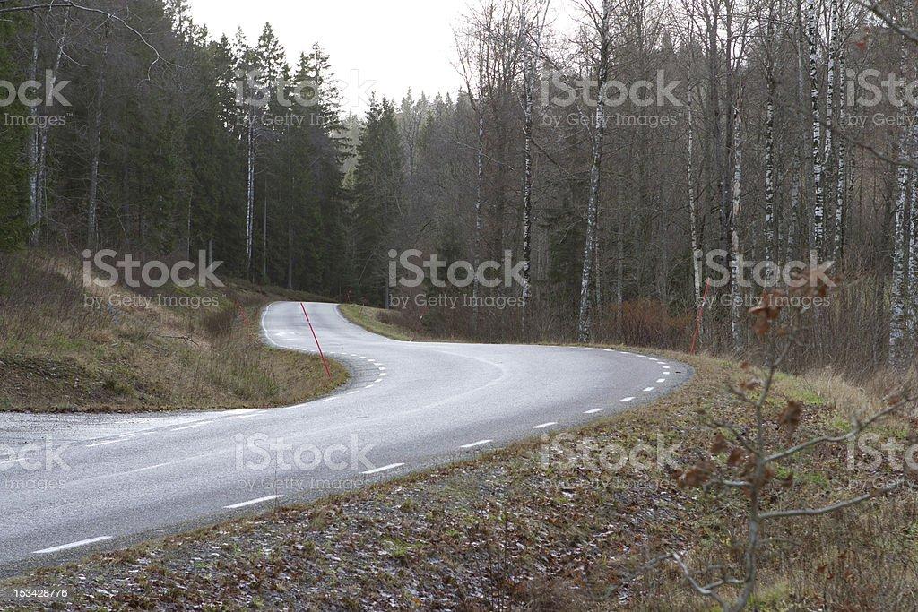 Swedish Country Road stock photo