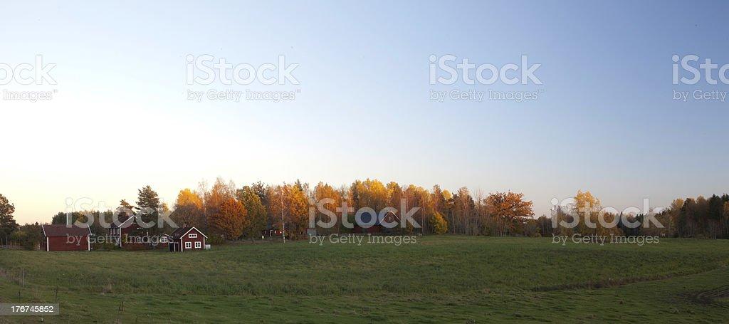 Swedish countryside landscape royalty-free stock photo