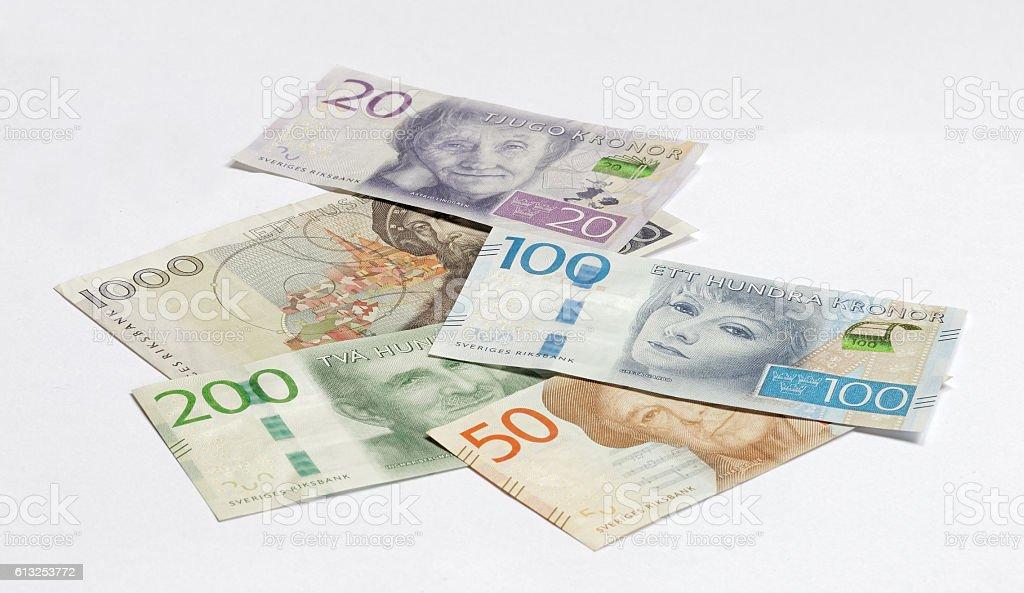 Swedish currency 20, 50, 100, 200 SEK, new layout 2016 stock photo