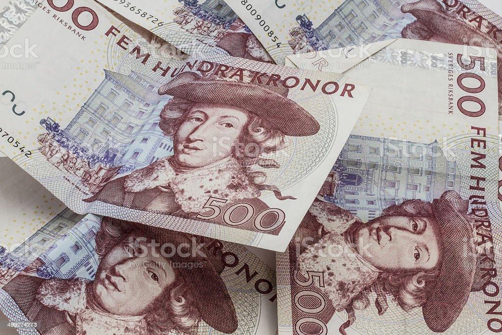 Swedish currency, 500 Kronor stock photo