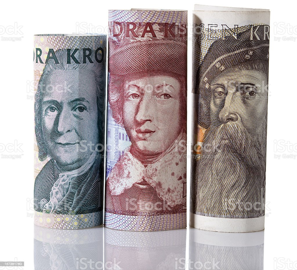 Swedish currency stock photo