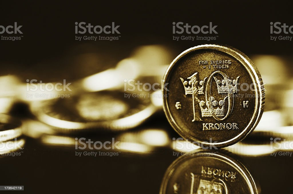Swedish currency stock photo