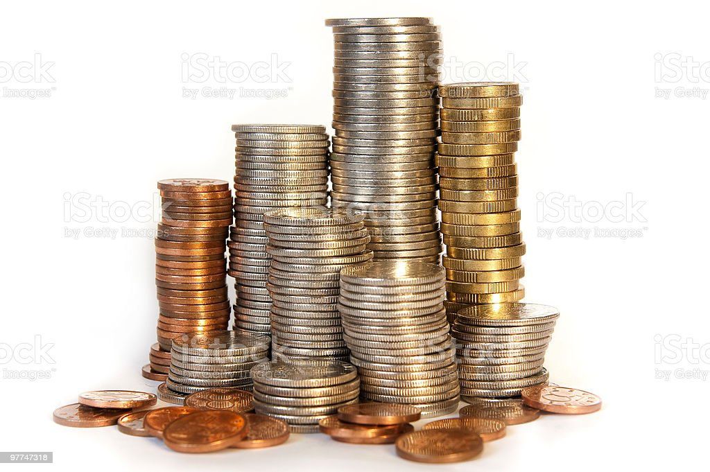 Swedish Currency Skyline stock photo