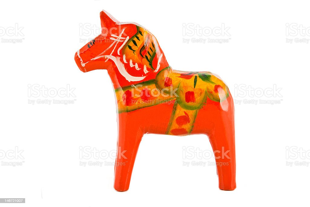 Swedish Dala horse stock photo