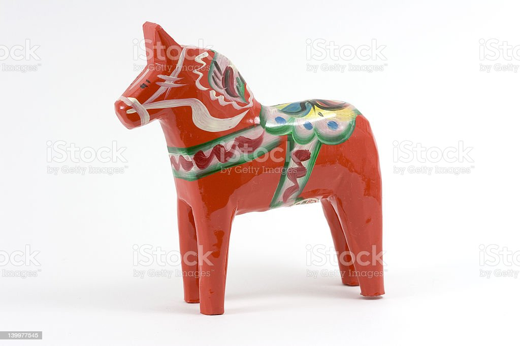 Swedish Dala Horse - Red stock photo