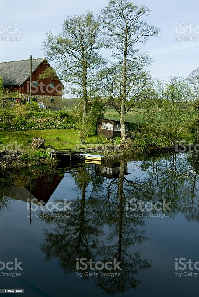 Swedish farm royalty-free stock photo