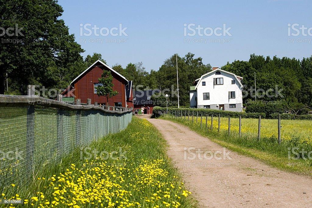 Swedish Farm stock photo