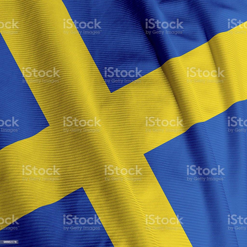 Swedish Flag Closeup royalty-free stock photo