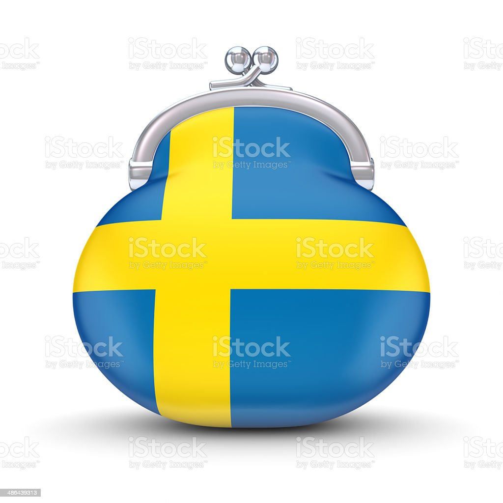 Swedish flag on a wallet. royalty-free stock photo