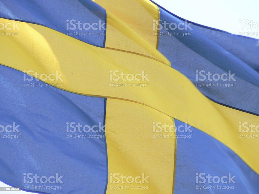 Swedish flag royalty-free stock photo
