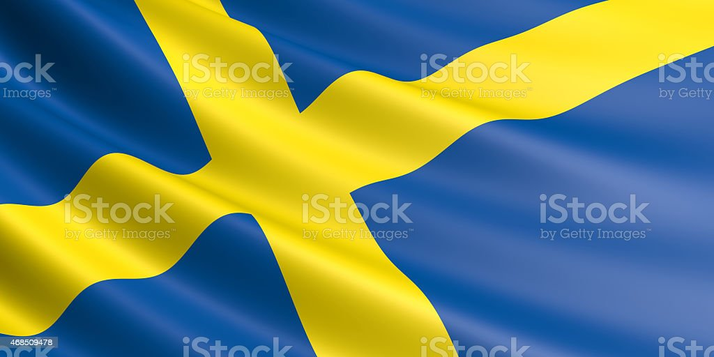 Swedish flag. royalty-free stock photo