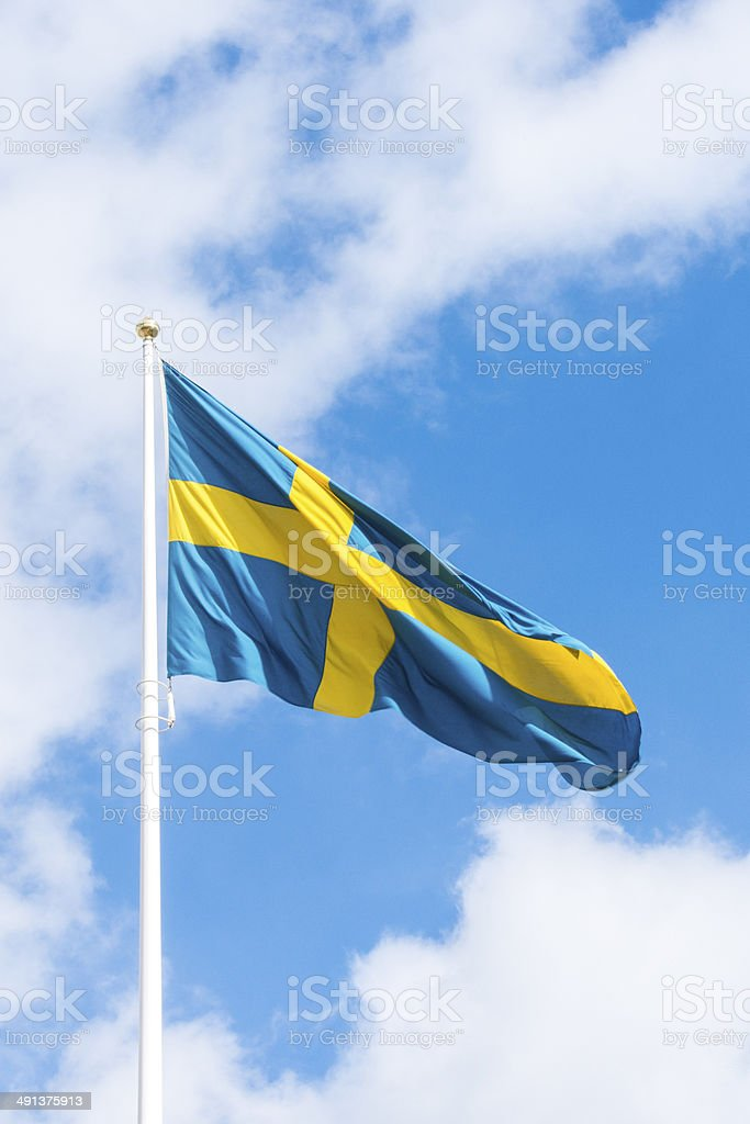 Swedish flag royalty-free stock photo
