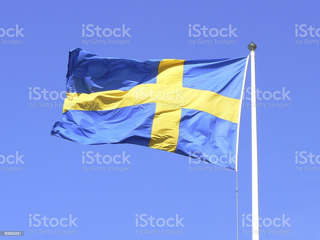 Swedish flag stock photo
