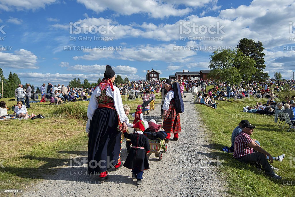 Swedish folk music festival stock photo