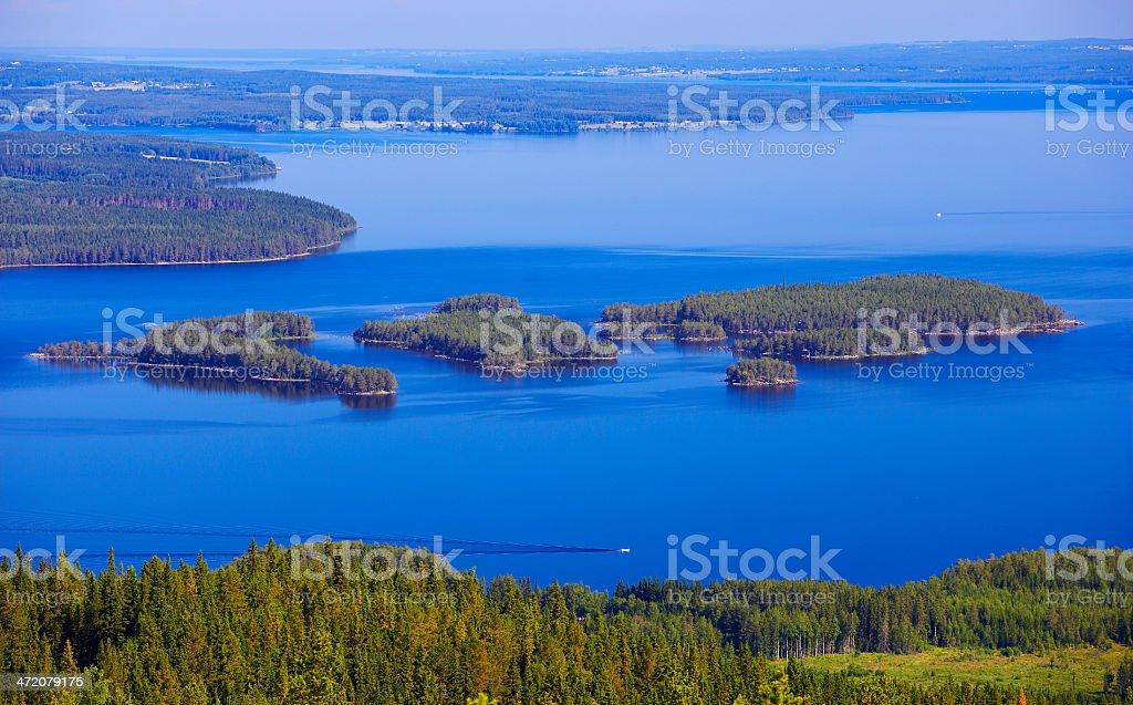 Swedish forest islands stock photo