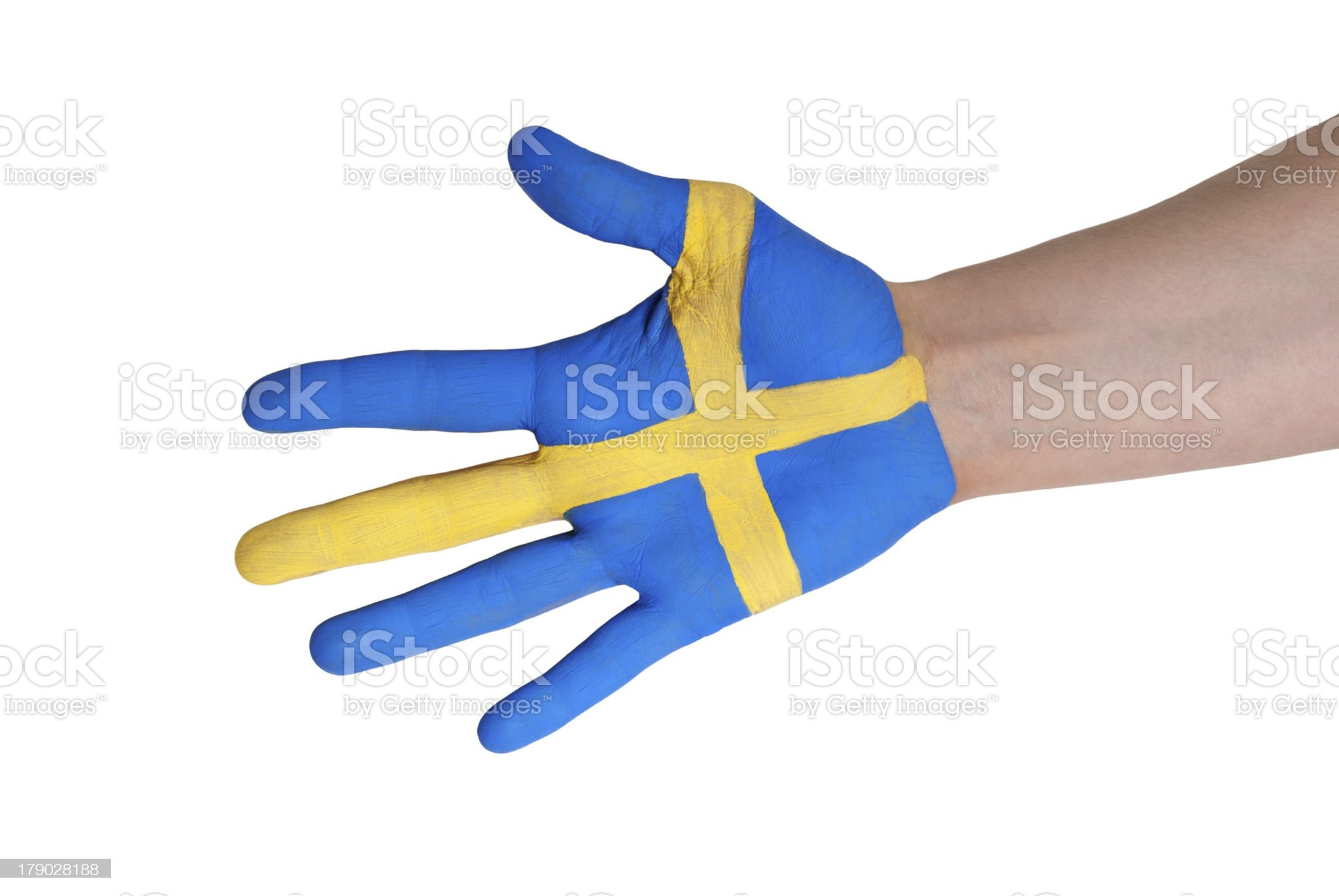 swedish hand royalty-free stock photo