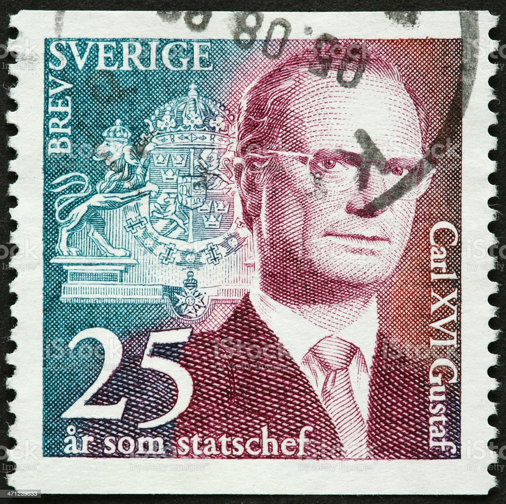 Swedish King Carl Gustag XVI stock photo