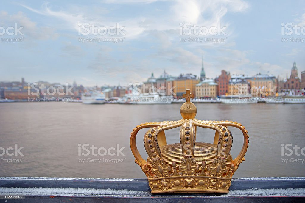 Swedish kingdom golden crown royalty-free stock photo