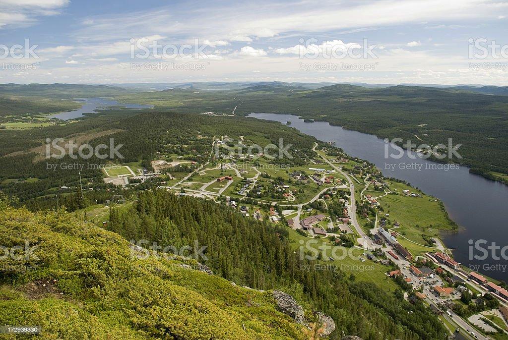 Swedish landscape stock photo