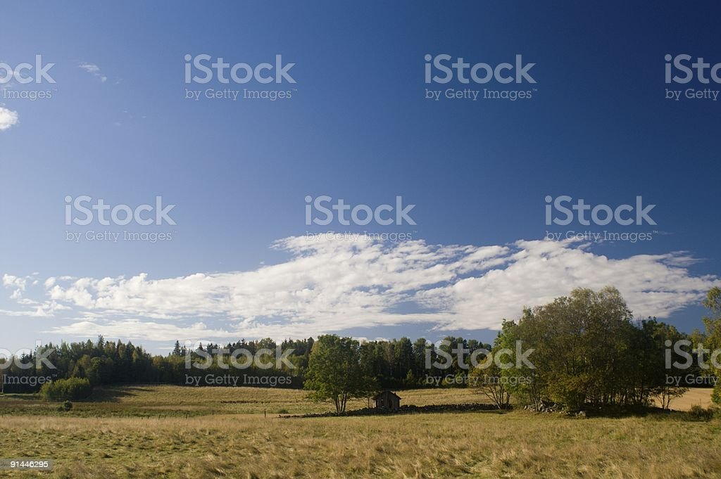 Swedish landscape Roslagen area royalty-free stock photo