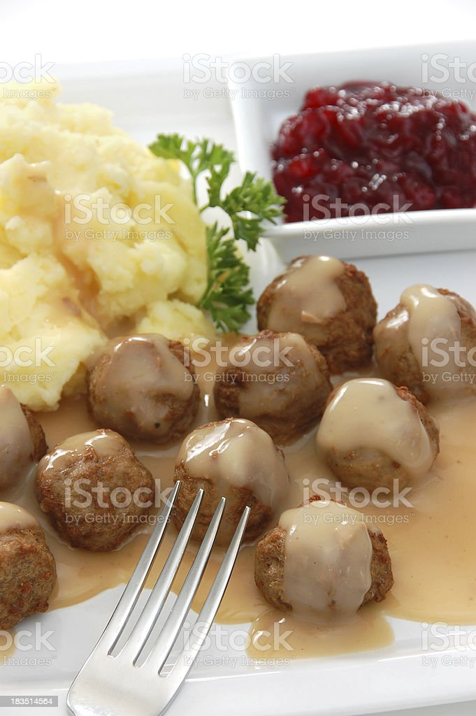 Swedish Meatballs royalty-free stock photo