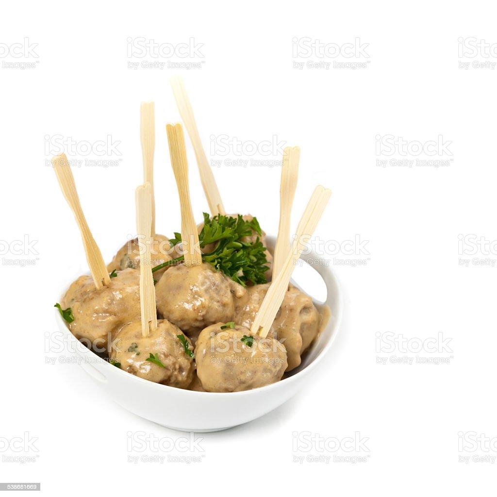 Swedish meatballs stock photo