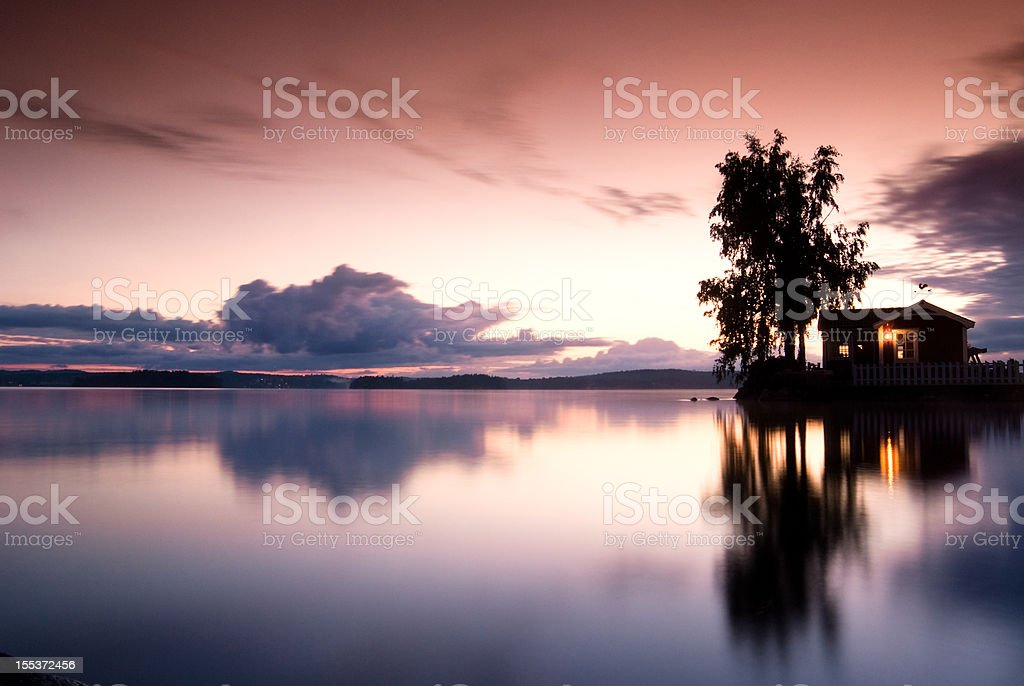 Swedish midnight stock photo