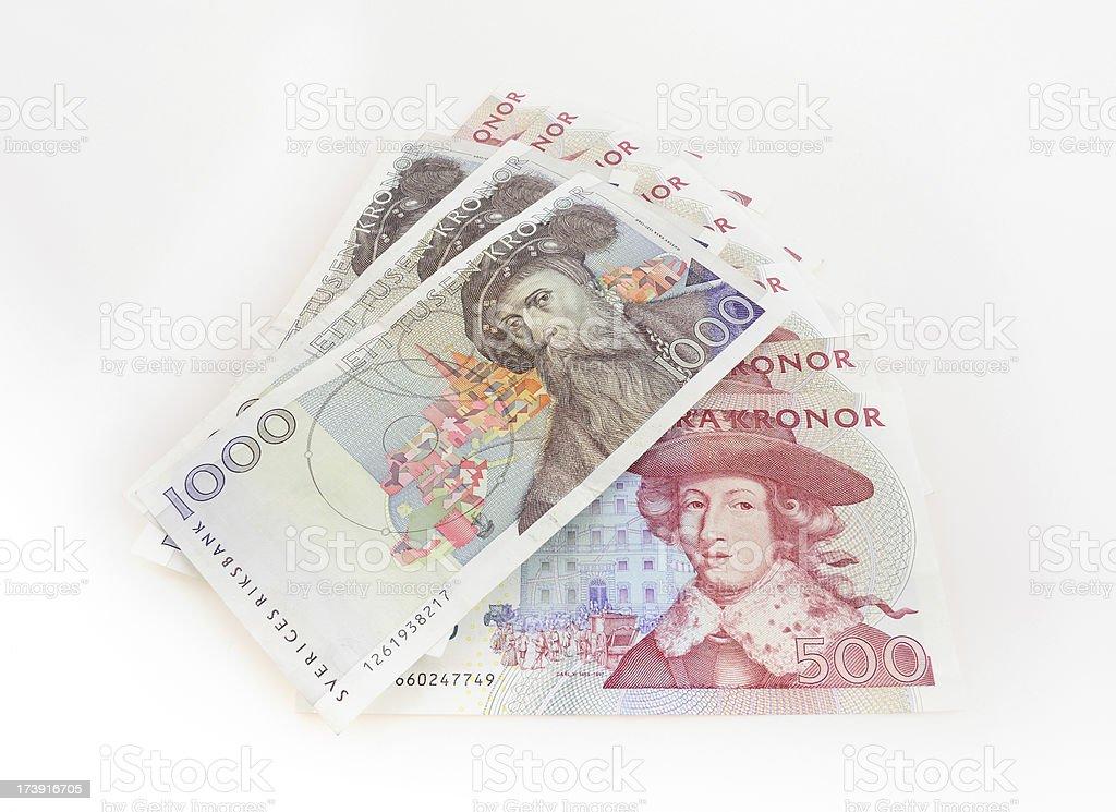Swedish money stock photo