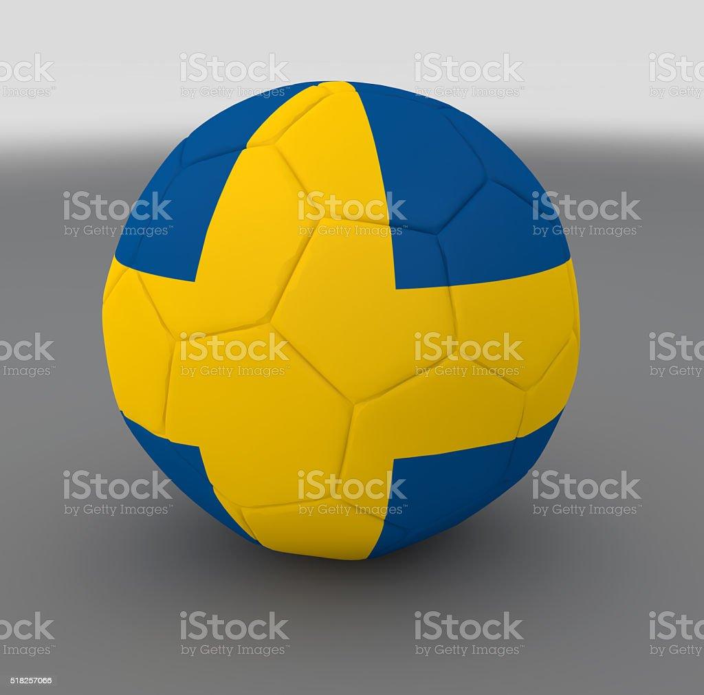 Swedish national flag ball stock photo