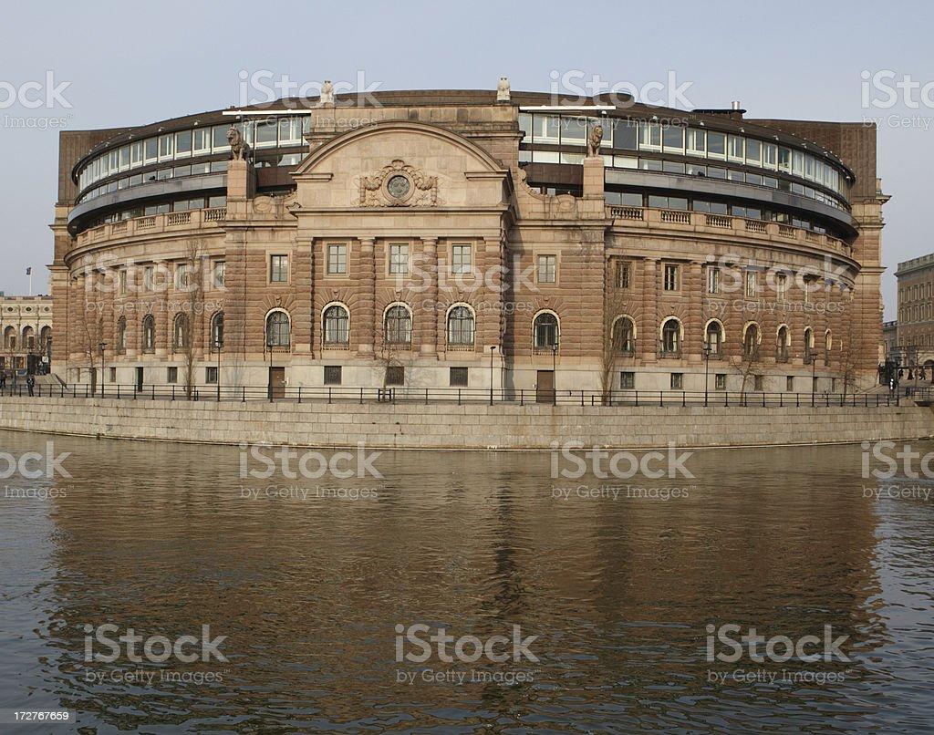 Swedish Parliament Building stock photo
