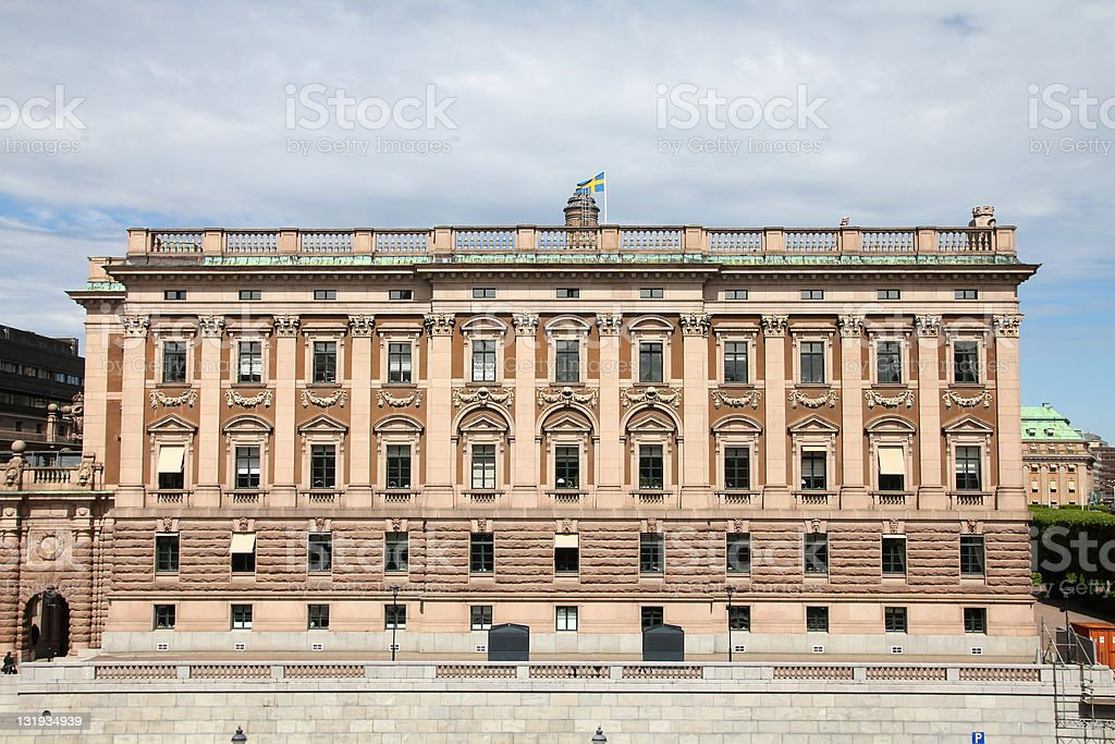 Swedish parliament royalty-free stock photo